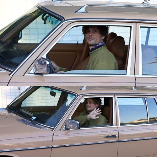 Matthew Gray Gubler - I'd roll around in that station wagon ALL DAY with him.