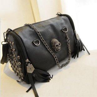 Women Handbag Tassel Skull Chain Bag //Price: $25.89 & FREE Shipping //     #skull #skullinspiration #skullobsession #skulls