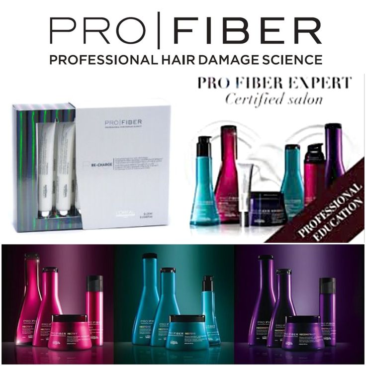 Pro Fiber Discover L'Oréal Professionnel's first long-lasting recharging haircare for damaged hair. Separated into three hair programmes for varying levels of damaged hair, Pro Fiber addresses slightly damaged hair (Revive) for fine to normal hair, damaged hair (Restore) for fine to coarse hair that has been chemically treated/sensitised/colour-treated and very damaged hair (Recover) for thick to coarse hair that chemically treated/sensitised/colour-treated.