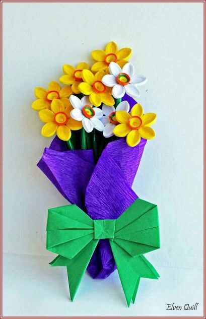 Bouquet of Daffodils - quilling by Elven Quill www.facebook.com/elven.quill