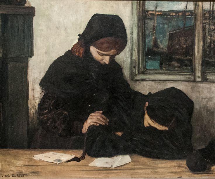 """""""Deuil a Ouessant"""", Charles Cottet (peintre français 1863-1925), 1903."""
