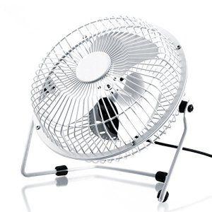 CSL - Ventilateur USB   ventilateur de bureau / Fan   cadre / pales en métal   pour ordinateur / ordinateur portable   blanc