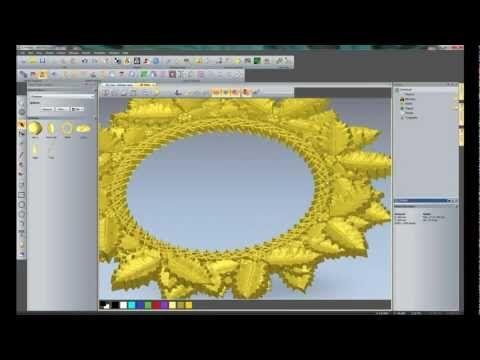 simple flower relief making in ArtCAM - YouTube