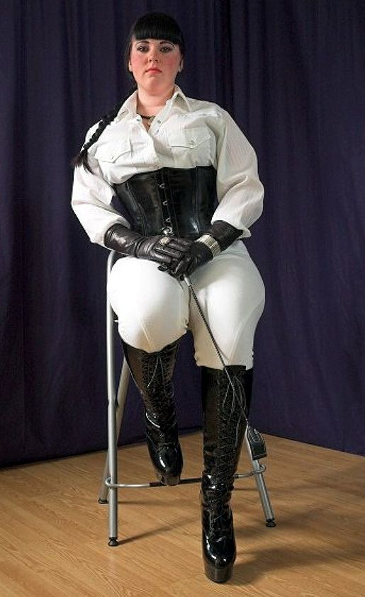 Two strict riding mistresses burn and whip their slave 10