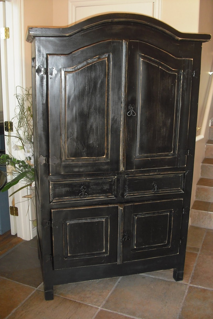 Black Armoire All Things Black Pinterest Black And