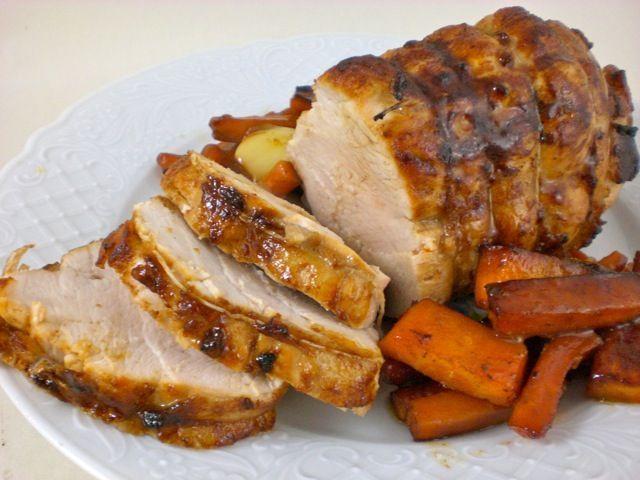 Recette de Rôti de dinde très goûteux, avec carottes magiques