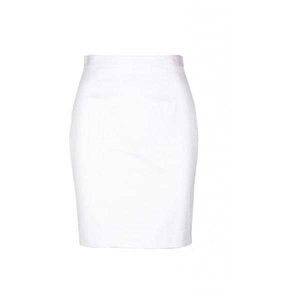 Sale// dsquared2 - la 'minigonna' textured cotton white skirt ($499) ❤ liked on Polyvore featuring skirts, textured skirt, white cotton skirt, dsquared2, cotton skirts and white skirt