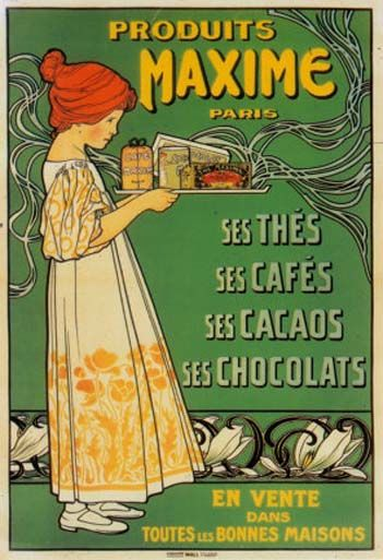 Vintage French Poster- Maxime products