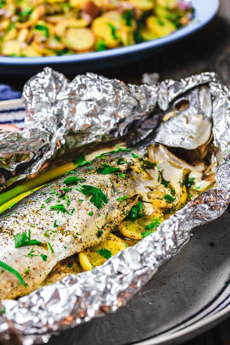 Mediterranean-style Oven-Roasted Spanish Mackerel with garlic, fresh herbs, and olive oil | The Mediterranean Dish