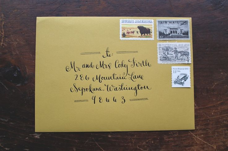 294 Best Hand Lettered Envelopes Images On Pinterest