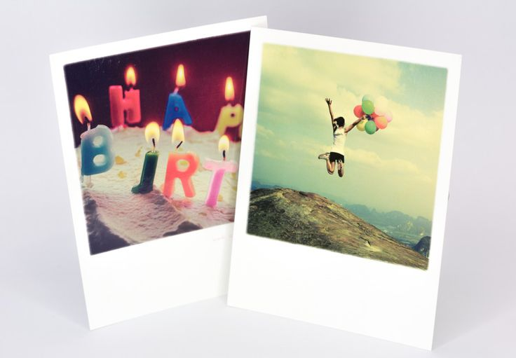 Ich liebe diese Grußkarten im Polaroid Look. Motiv und Gestaltung holen schöne Kindheitserinnerungen wieder hervor   Geschenke kreativ verpacken   Schöne Postkarten   Grußkarte für Geburtstag   Feier   Hochzeit
