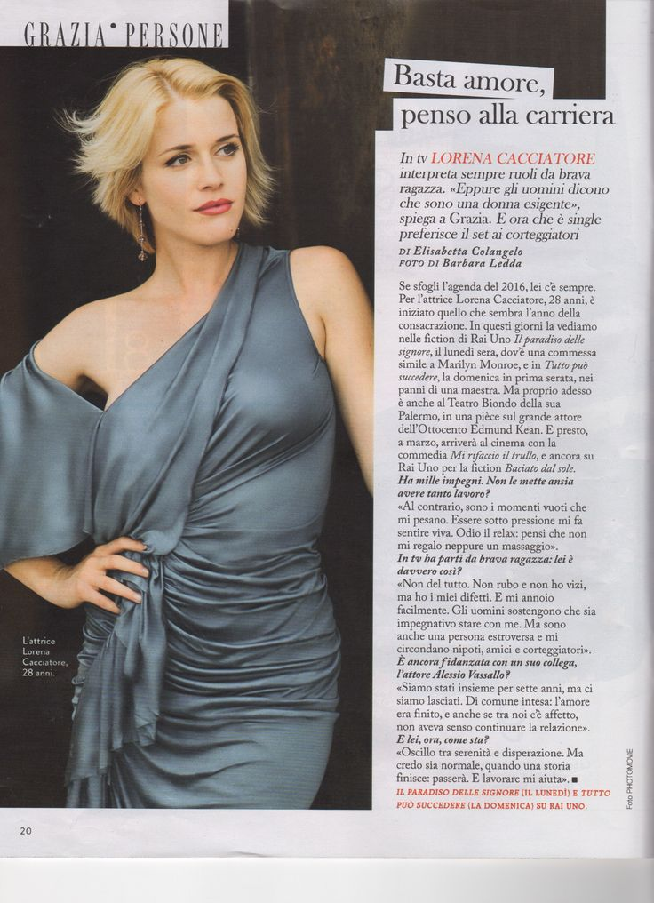 Our talented Lorena Cacciatore in an unmissable interview for the new issue of Grazia! She has the charm of Hollywood's divas and looks amazing in our silk evening gown! Proud of our super testimonial. Photo by Barbara Ledda #moda #fashion #madeinitaly #RobertaRedaelli #model #actress #interview #design #fashiondesigner #luxury #italy #cinema #movie #theatre #follow4follow #tagforlikes