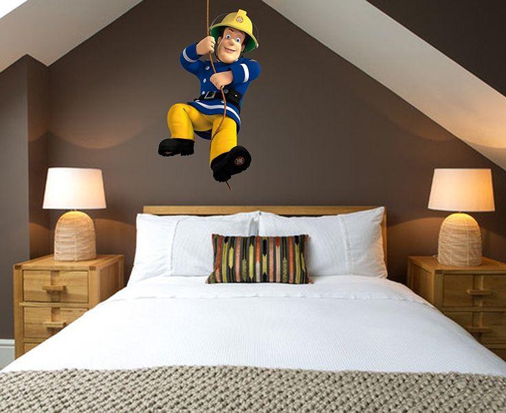 Stunning Wandtattoo Feuerwehrmann Sam Dekoration f r ein Feuerwehrzimmer Kinderzimmer einrichten