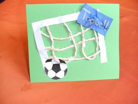 Einladungskarte basteln zu Fußballparty oder Geburtstag