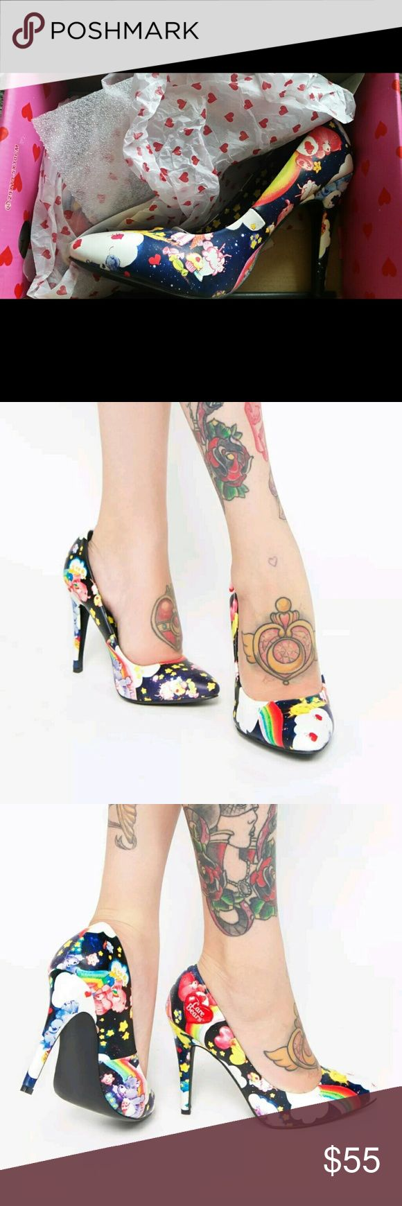 Iron Fist Care Bears Nights For Staring Black Star Iron Fist Care Bears Nights For Staring Black Star Point Heel Iron Fist Shoes Heels