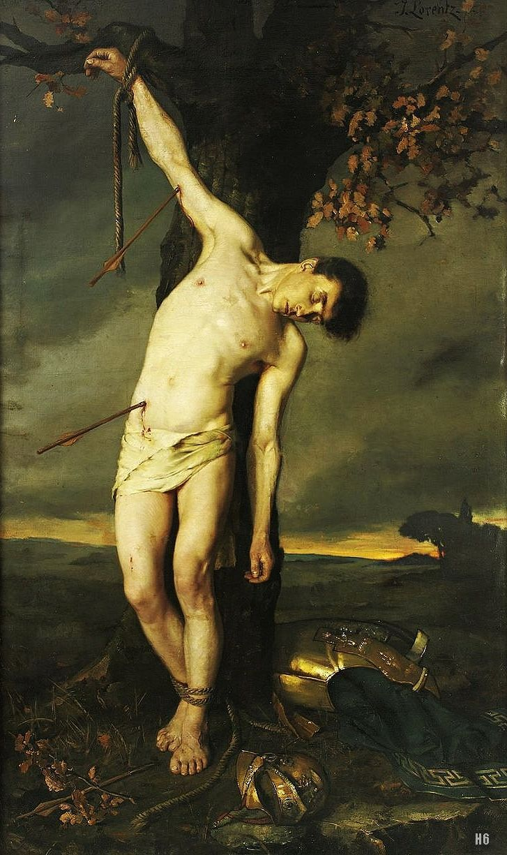 St.Sebastian.  19th.century. Alcide Joseph Lorentz. French 1813-1891. oil/canvas. http://hadrian6.tumblr.com