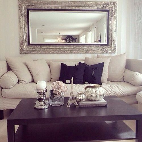 Best 25 mirror over couch ideas on pinterest hobby Over the sofa wall decor ideas
