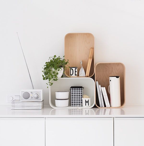 white and wood storage containers and tivoli radio in the kitchen of the fabulous finnish home - Tivoli Radio