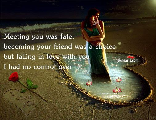 #OnlineDating365. #Fate brings two people together and it is love's job to keep them there.