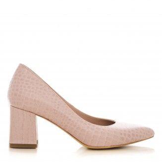 pantofi dama din piele naturala 1416.2 croco nude