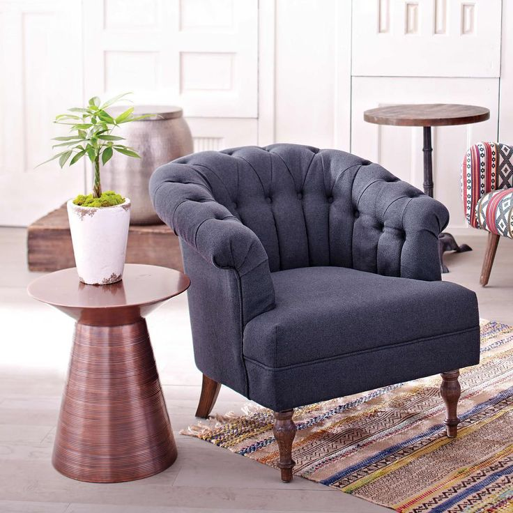 1000+ ideas about Blue Accent Chairs on Pinterest