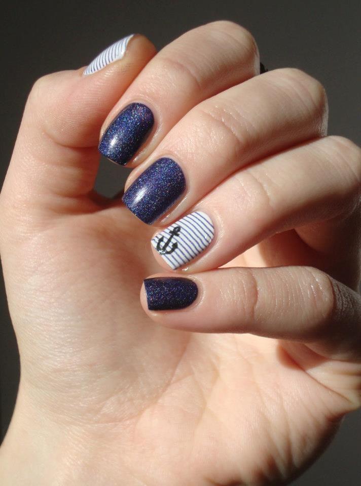 More nautical nails - Best 25+ Nautical Nail Designs Ideas On Pinterest Nautical Nails