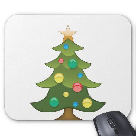 Christmas Tree Emoji Mouse Pads