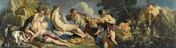Diana And The Nymphs Surprised By Actaeon  Giacomo Ceruti