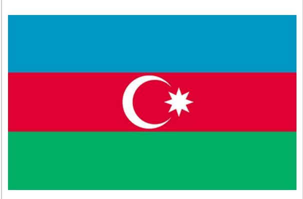 Azerbaijan National Flag 4ft x6 ft Hanging Flag Polyester Azerbaijan Flag Outdoor Indoor 120x180cm Big Flag for Celebration
