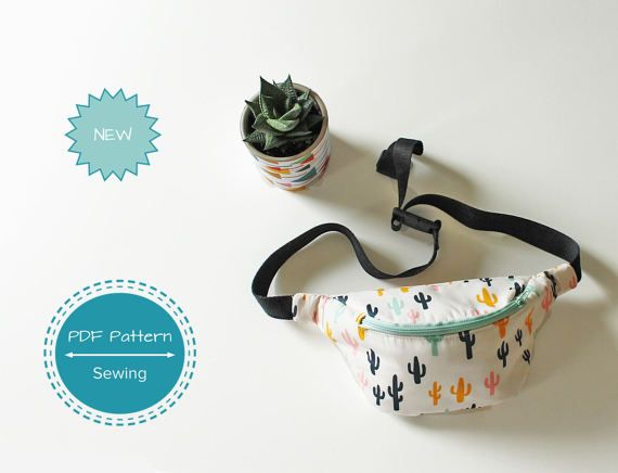 bum bag sewing pattern waist bag fanny pack by Giftsandbobs