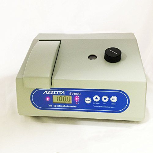 #wow Model: #Azzota SV800 Wavelength range : 330-1000nm Spectral slit width: 6nm Wavelength accuracy: ±2nm Wavelength readability: ±1nm Stray radiant energy: Les...