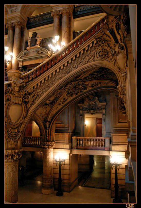Paris Opera House  In this Labyrinth - Opera VI by ~Elwinga on deviantART