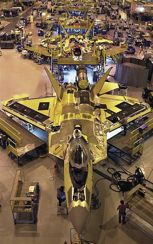 F22 assembly line