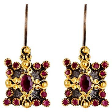 Check out this item at One Kings Lane! Rough Ruby Theodora Earrings