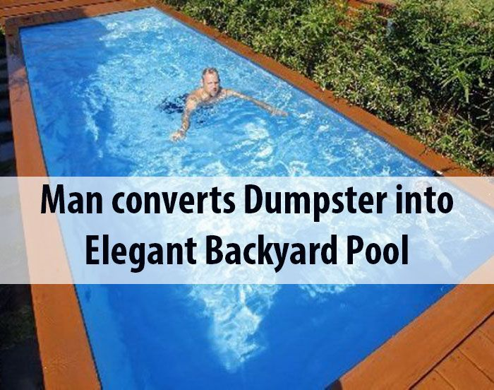 1000 Ideas About Dumpster Pool On Pinterest Container Pool Shipping Container Pool And Diy Pool