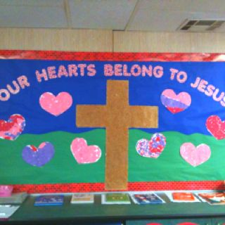 Valentine's day bulletin board