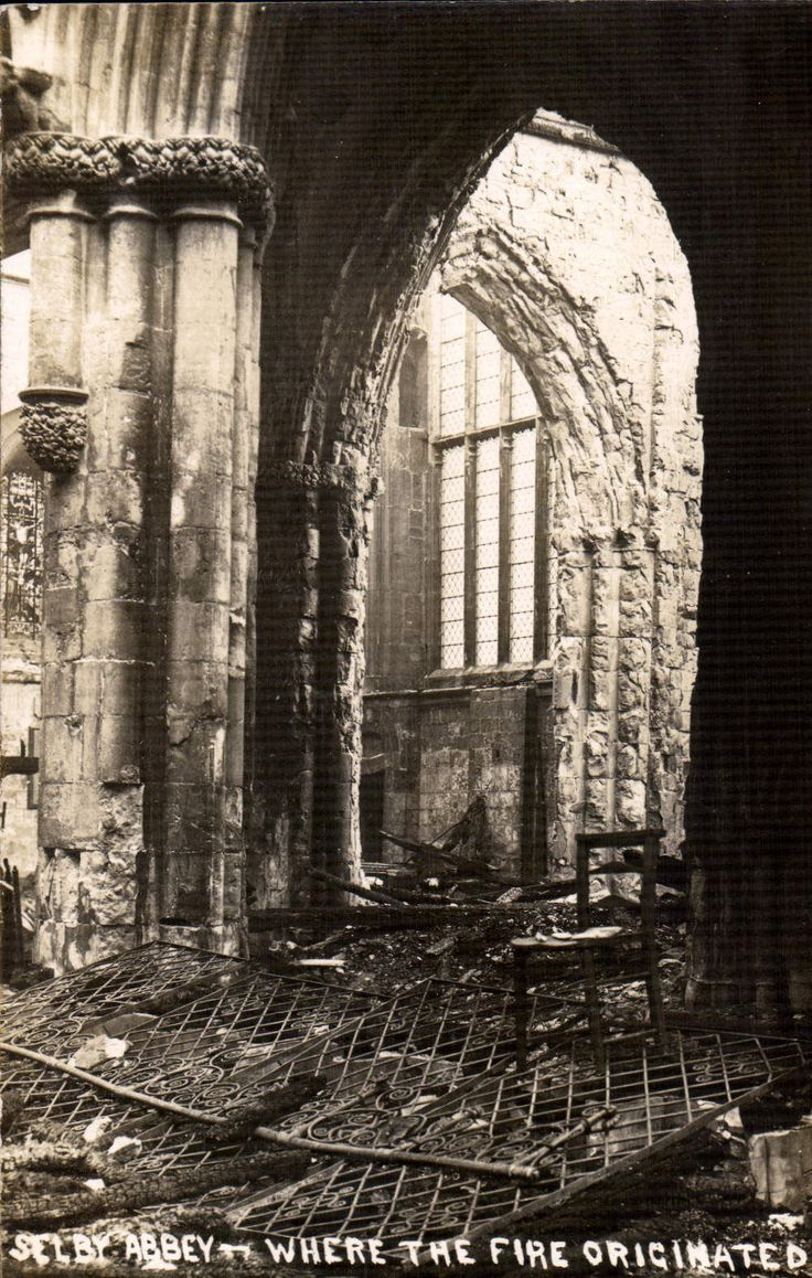Selby Abbey Fire - After the Fire 1906 - Selby Town