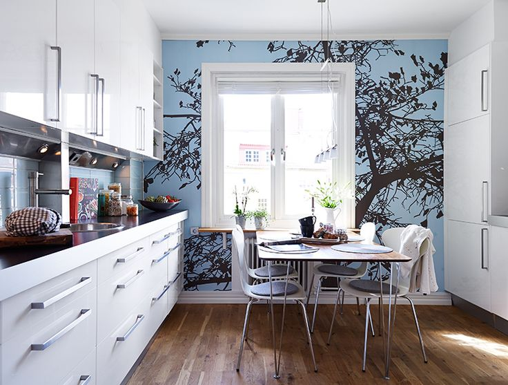 find this pin and more on cocinas kitchen by amidareformes - Wallpaper Ideas For Kitchen