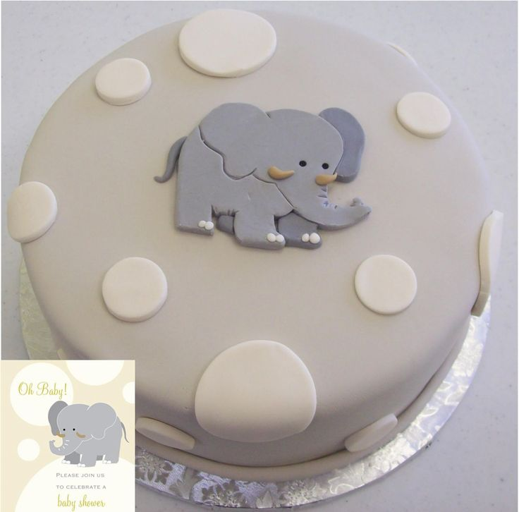 Elephant Themed Baby Shower Cakes ~ Elephant baby shower the cake was made to match