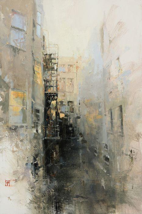 "HSIN-YAO TSENG Fine Art - Liu Bai: Liu Bai #2 Oil on panel  18""x12""  2012"