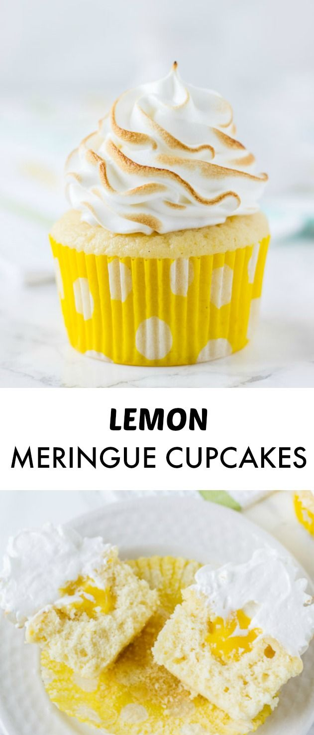 Lemon Meringue Cupcakes ~ fluffy lemon cupcakes filled with lemon curd ...