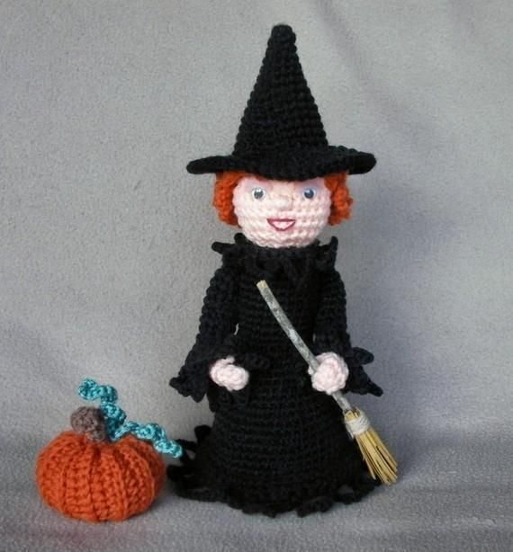 Holiday Witch Crochet Doll