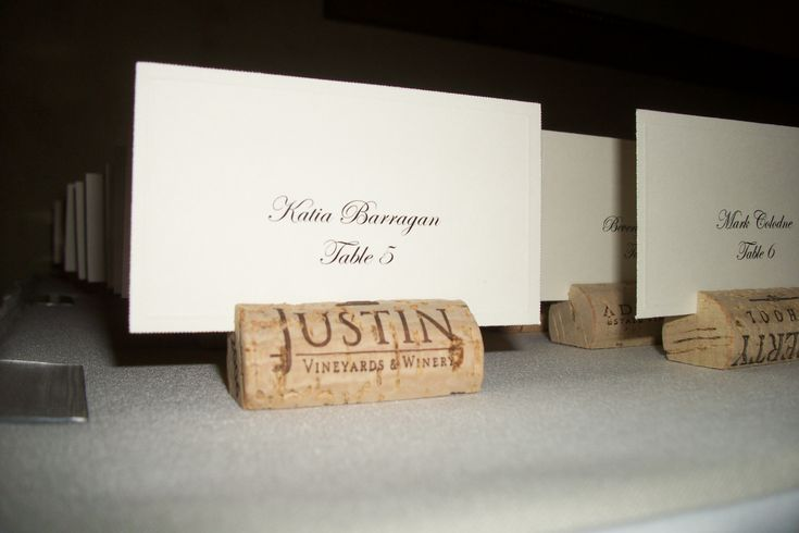 place card corks