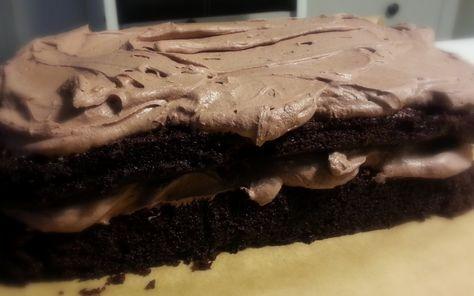 Black Magic Chocolate Cake. Dansk tekst!