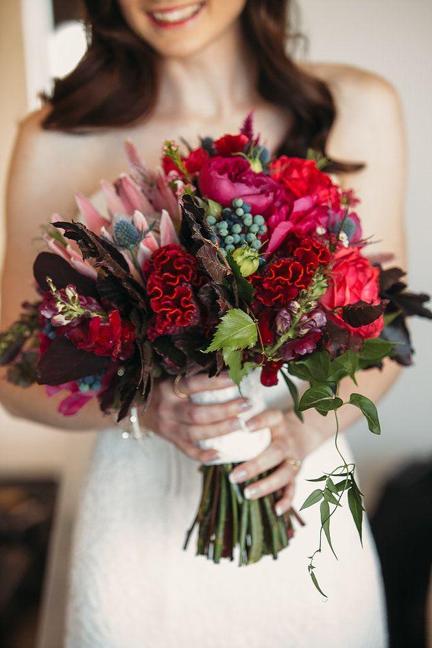 Native bridal bouquet   Naomi Rose Floral Design   king protea   Texture bouquet