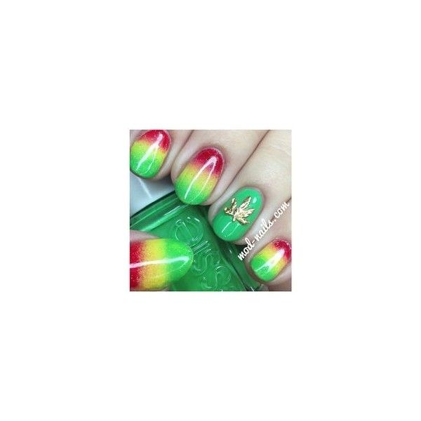 13 best Rasta nails images on Pinterest | Maquillaje, Ongles y Uñas ...
