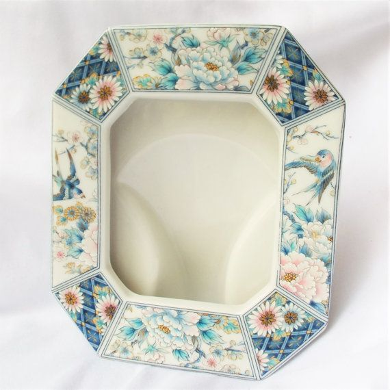 Porcelain Asian Frame with Swallow Birds and Chrysanthemum Flowers Japanese from TheRiCharmedLife