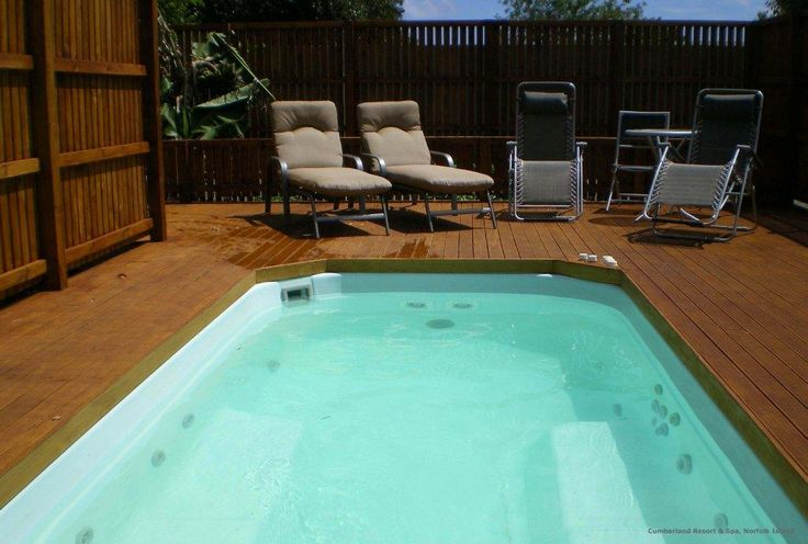 Destress and unwind in the heated Swim Spa Pool  www.norfolkislands.com