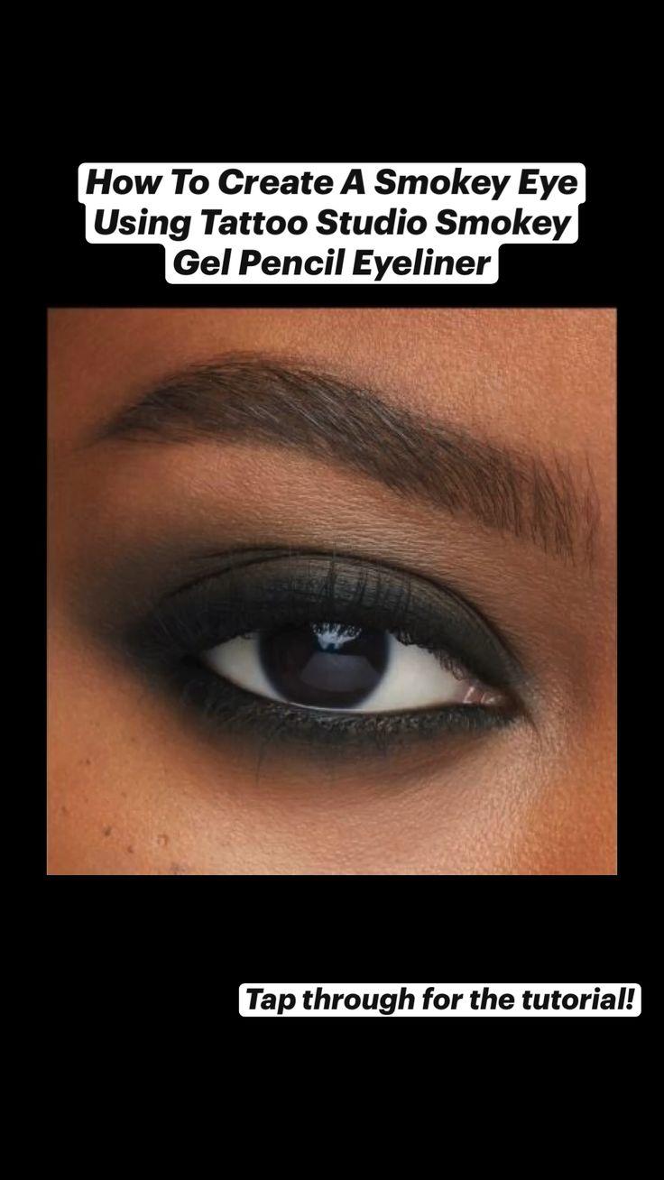 How to create a smokey eye with tattoo studio smokey gel
