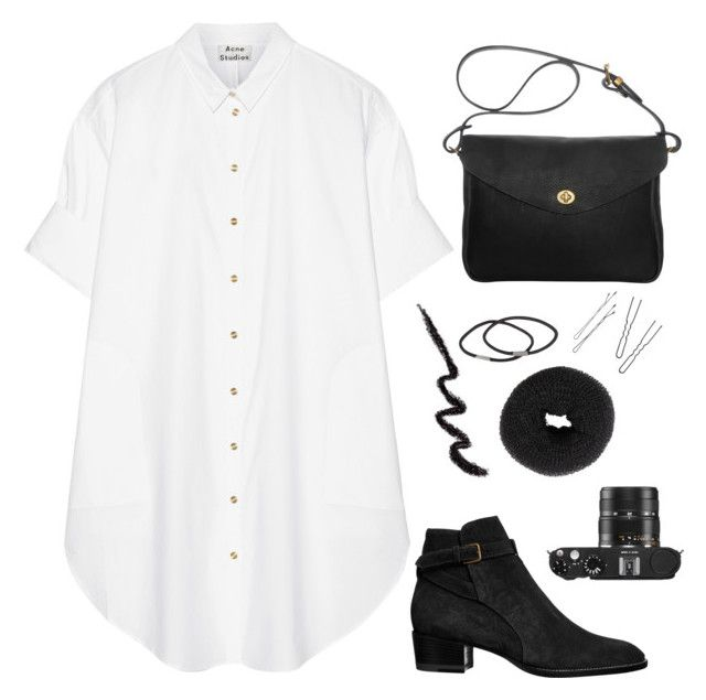 ABC Tag by aaegia on Polyvore featuring Acne Studios, Yves Saint Laurent, Mimi Berry, NLY Accessories, Leica, women's clothing, women's fashion, women, female and woman